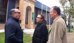 Zamudio, que estuvo acompañado por uno de los gerentes de la Mancomunidad de Islantilla y por el director del propio CEFO