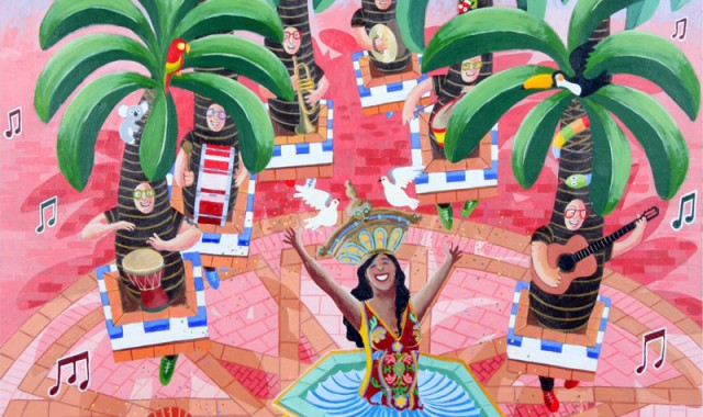 """El cartel del Carnaval de Ayamonte 2014, obra de Manuel Feria """"Carmelete"""""""