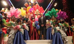 Cortes de Honor con el alcalde de Punta Umbría.