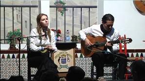 Rocío Márquez en la Peña Flamenca de Isla Cristina