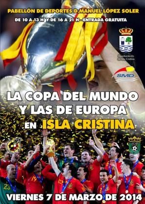 La copas de la selección visitan Isla Cristina