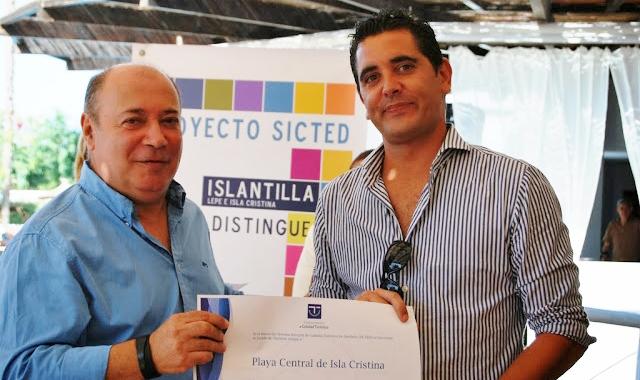 Zamudio en la última entrega de los galardones SICTED en Islantilla