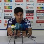 Dimas, jugador del Recreativo de Huelva.