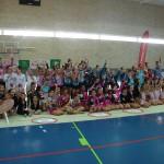 Una escuela de gimnasia rítmica de Huelva.
