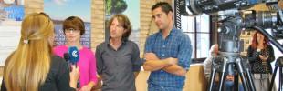 El Concejal de Medio Ambiente, Juan García, junto al equipo que ha rediseñado la sede de la concejalía