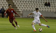Un momento del partido en el Carlos Belmonte.