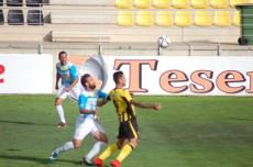 Chanco, en una acción contra el Algeciras en el Ciudad de Lepe.