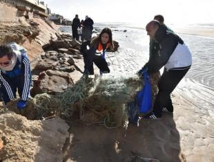 Limpieza de las playas de La Antilla