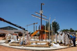 El Parque Acuático de Palos de la Frontera va tomando forma
