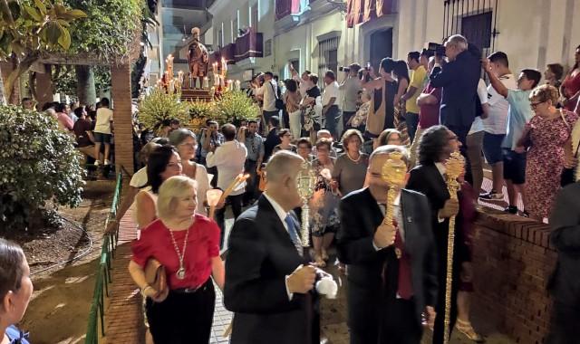 La procesión de San Roque pone el broche a las Fiestas Patronales en Lepe