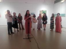 Las alumnas de María Dolores Luque exponen en Los Álamos