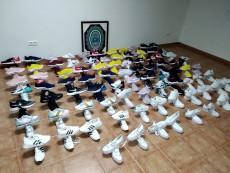 Pillado con zapatillas falsificadas para su venta en Lepe