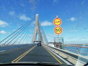 Las obras del puente del Guadiana se reanudarán en Octubre
