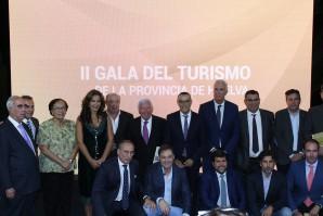 La II Gala del Turismo de la provincia de Huelva reconoce a los protagonistas del sector
