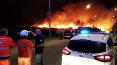 Nueve personas afectadas por el incendio de ocho chabolas en Lepe