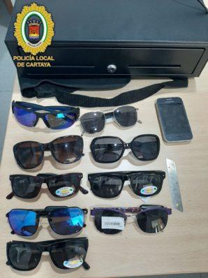 Detenido el presunto autor del robo a una óptica en Cartaya