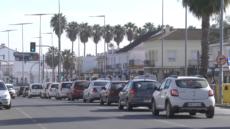 Un coche y una moto protagonizan un nuevo accidente de tráfico en Lepe