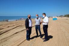 La Mancomunidad de Islantilla finaliza las actuaciones de perfilado de la playa