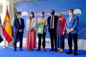La playa de Islantilla recoge su certificado de calidad Bandera Azul 2021